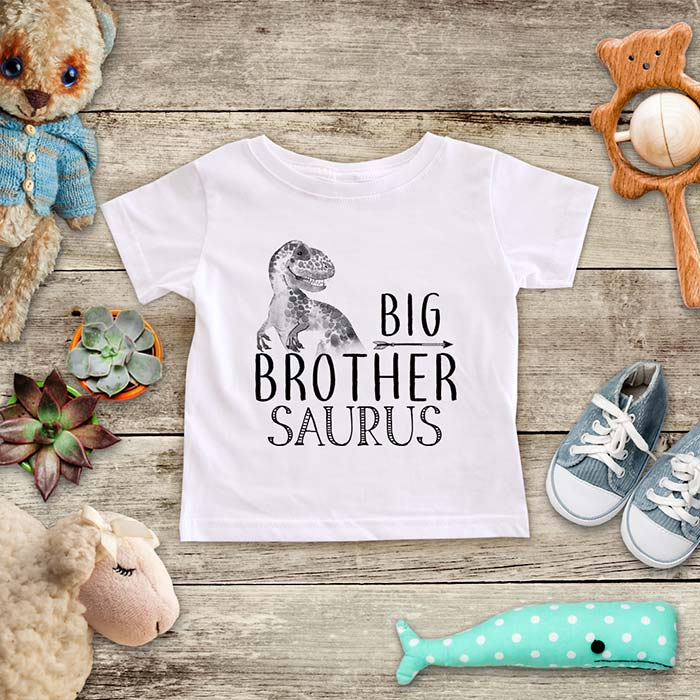 Big Brother Saurus surprise baby announcement baby onesie Infant, Toddler & Youth Soft Shirt
