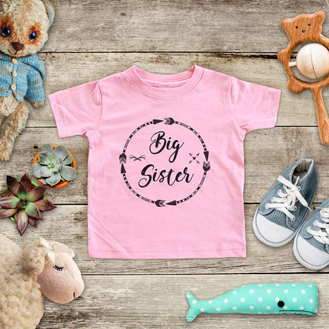Big Sister  - Circle Arrows hipster boho design baby onesie Infant & Toddler Soft Shirt baby birth pregnancy announcement