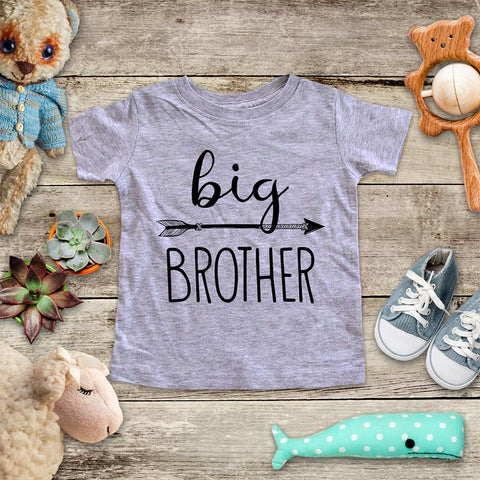 Big Brother  - hipster arrow boho design baby onesie Infant & Toddler Soft Shirt baby birth pregnancy announcement