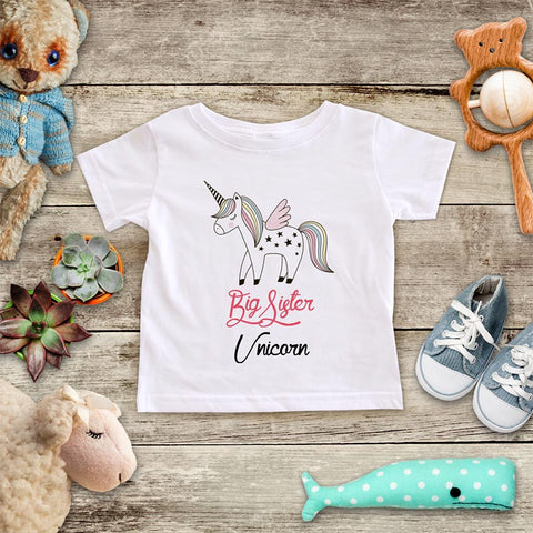 Big Sister Unicorn - Baby Onesie Infant & Toddler Youth Soft Fine Jersey Shirt