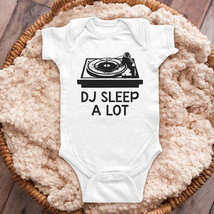DJ Sleep A Lot Turntable retro music funny baby onesie shirt Infant, Toddler & Youth Shirt
