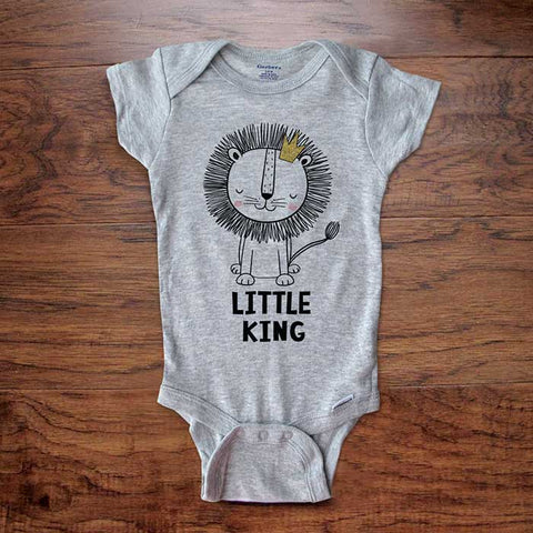 Little King Lion Baby Onesie Bodysuit - surprise baby shower gift baby coming home lion theme party - Toddler & Youth Soft Shirt