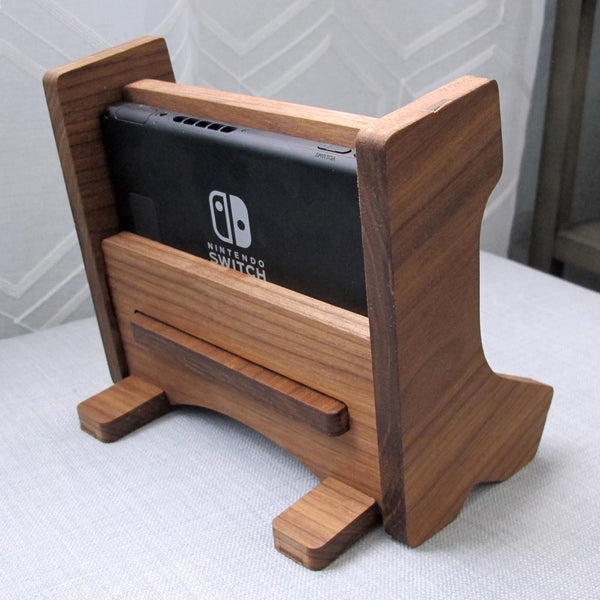 Nintendo Switch Arcade Bartop design Stand Handmade in USA Solid Hardwood, Gift for kids, Retro Video Game Decor, Walnut Cherry