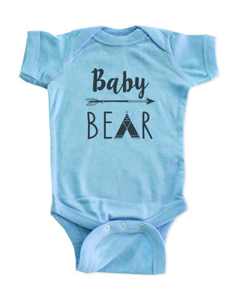 Baby Bear Tepee hipster arrow boho baby onesie Infant & Toddler Soft Shirt - baby birth pregnancy announcement Baby shower gift onesie