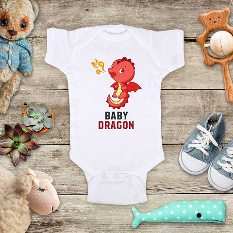 Baby Dragon cute baby onesie bodysuit Infant Toddler Youth Shirt Baby shower gift