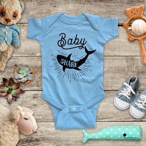Baby Shark jaws shark week kids baby onesie shirt - Infant & Toddler Youth Soft Fine Jersey Shirt