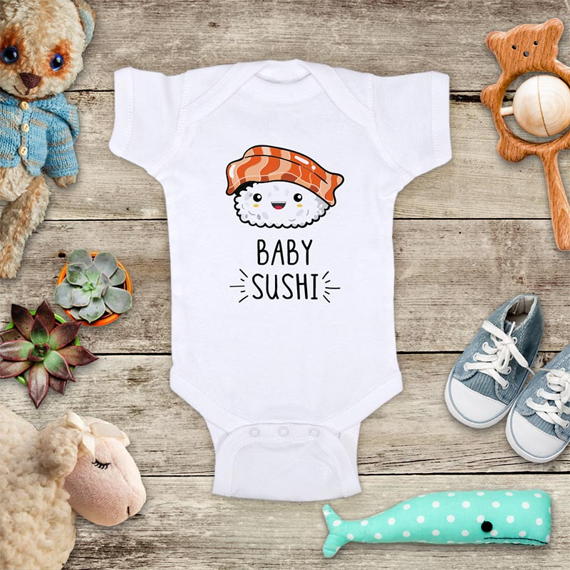 Baby Sushi cute Japanese food funny baby onesie bodysuit Infant Toddler Youth Shirt Baby shower gift