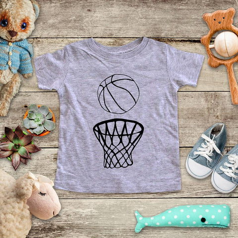 Basketball sports activity fun baby onesie Infant, Toddler & Youth Soft Shirt
