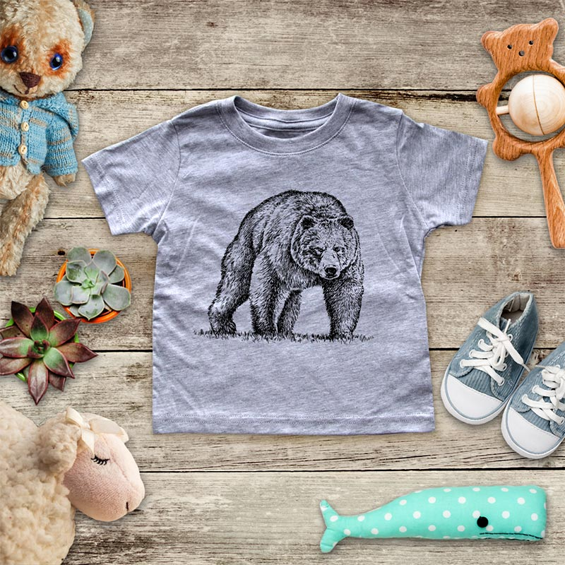 Bear Coming At You animal zoo trip baby onesie Infant, Toddler & Youth Soft Shirt