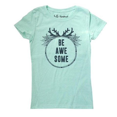 Be Awesome - Kids Youth Girls Tee Shirt