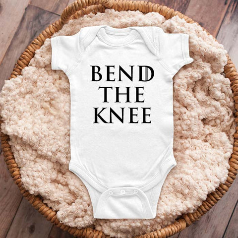 Bend The Knee GOT Game of Thrones funny parody baby onesie shirt Infant, Toddler & Youth Shirt