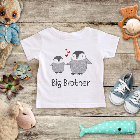 Big Brother Penguins - Infant & Toddler Super Soft Fine Jersey Shirt or Baby Onesie