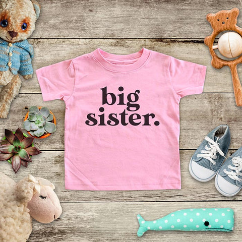 big sister. (design 10) baby onesie Infant & Toddler Soft Shirt baby birth pregnancy announcement