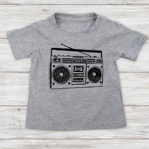 Boombox DJ retro music graphic baby onesie shirt Infant, Toddler & Youth Shirt