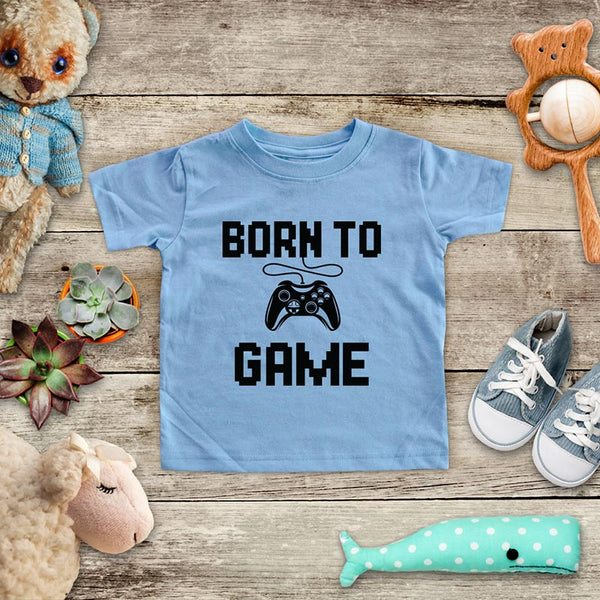 Born To Game - Retro Video game design Baby Onesie Bodysuit, Toddler & Youth Soft Shirt