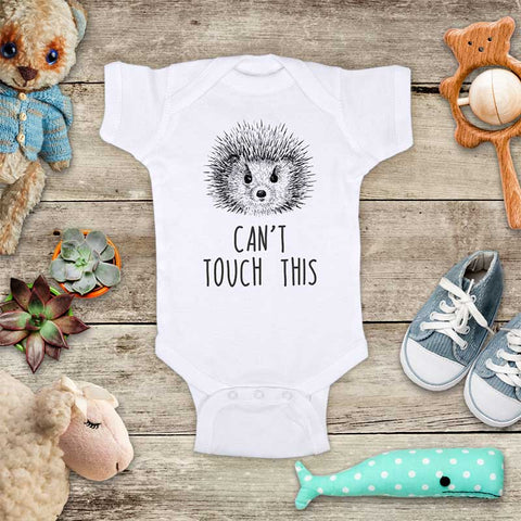 Can't touch this Hedgehog funny baby onesie Infant, Toddler & Youth Soft Shirt