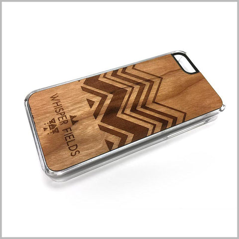 Chevron Engraved Cherry Wood