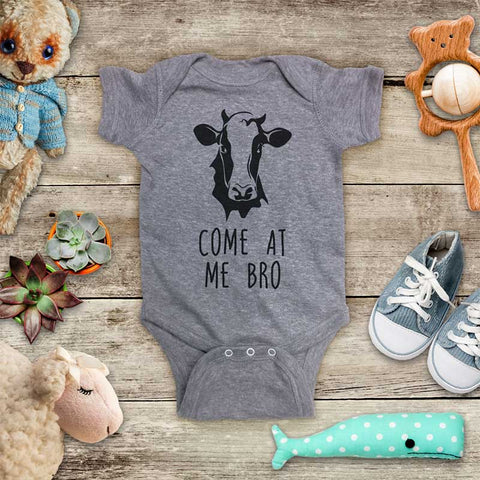 Come At Me Bro Cow funny and cute kids baby onesie shirt - Infant & Toddler Youth Soft Fine Jersey Shirt