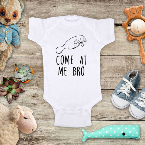 Come At Me Bro Manatee funny and cute kids baby onesie shirt - Infant & Toddler Youth Soft Fine Jersey Shirt