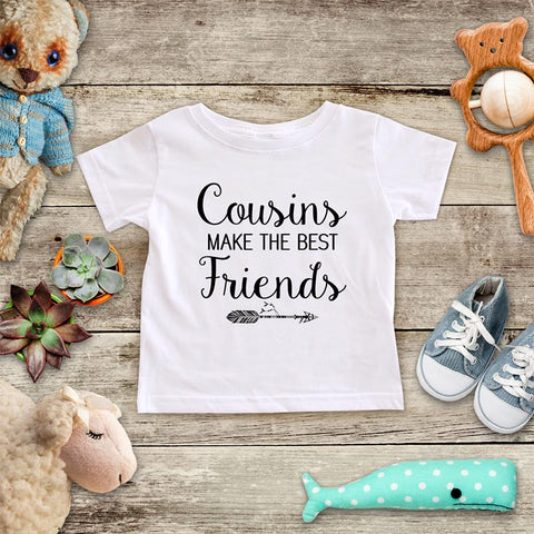 Cousins Make the Best Friends - hipster arrow boho baby onesie Infant & Toddler Youth Shirt baby birth pregnancy announcement Wedding