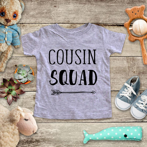48f040ae8 Cousin Squad - hipster arrow boho baby onesie Infant & Toddler Youth Soft  Shirt - baby