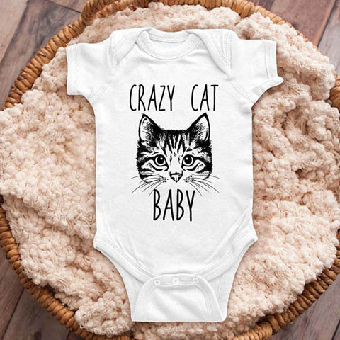 Crazy Cat Baby - funny cute baby onesie shirt Infant, Toddler & Youth Shirt