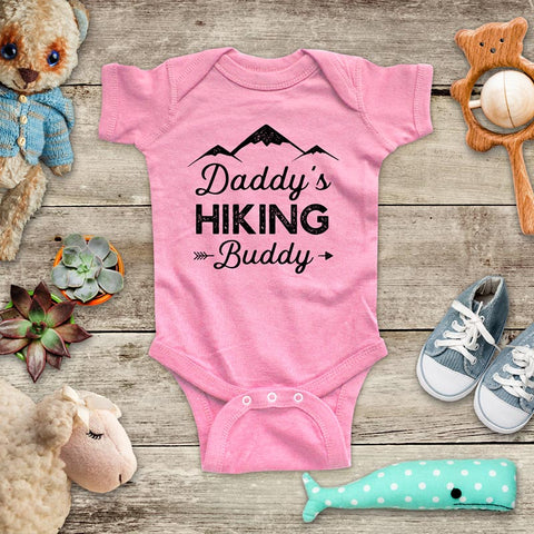 Daddy's Hiking Buddy - hiker fitness workout hike mountain baby shower gift for dad father baby onesie kids shirt Infant & Toddler Youth Shirt