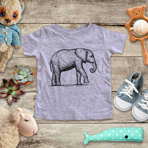 Elephant - animal zoo trip baby onesie shirt - Infant & Toddler Youth Soft Fine Jersey Shirt