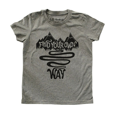 Find your own way - Youth Short Sleeve Crewneck Jersey Tee Shirt