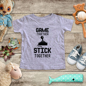 Game Together Stick Together playing Retro Video game design Baby Onesie Bodysuit, Toddler & Youth Soft Shirt
