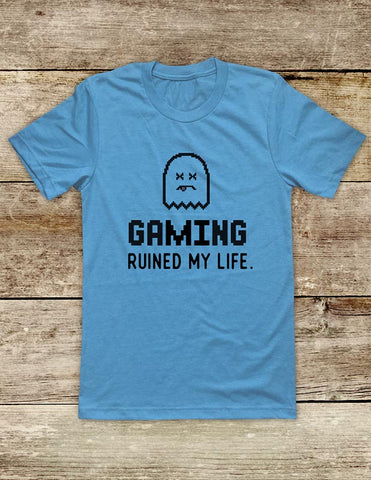 Gaming Ruined My Life. - funny Video Game Soft Unisex Men or Women Short Sleeve Jersey Tee Shirt