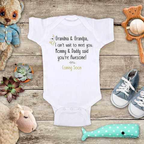 2cf06d0ea Grandma & Grandpa, I can't wait to meet you. Mommy & Daddy said you ...
