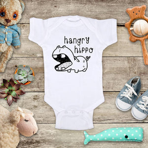 hangry hippo cute hippopotamus baby onesie bodysuit Infant Toddler Shirt Hello Handmade design baby shower gift