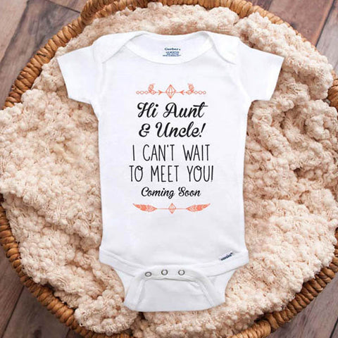Baby Coming 2021 or 2022 surprise birth announcement Baby bodysuit shower gift pregnancy parents Guess who are going to be Grandparents