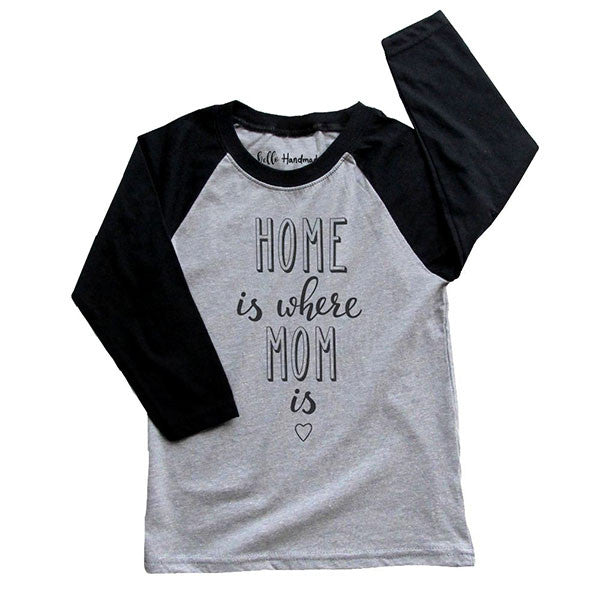 Home is where Mom is - Youth Unisex Three-Quarter Sleeve Raglan T-Shirt