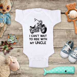 I can't wait to ride with my uncle Motorcycle kids baby onesie shirt - Infant & Toddler Youth Shirt