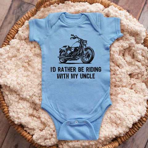 I'd rather be riding with my Uncle motorcycle bike biker baby onesie shirt Infant, Toddler & Youth Shirt