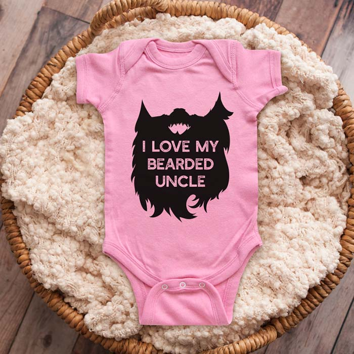 I Love My Bearded Uncle mustache beard baby onesie shirt Infant, Toddler & Youth Shirt