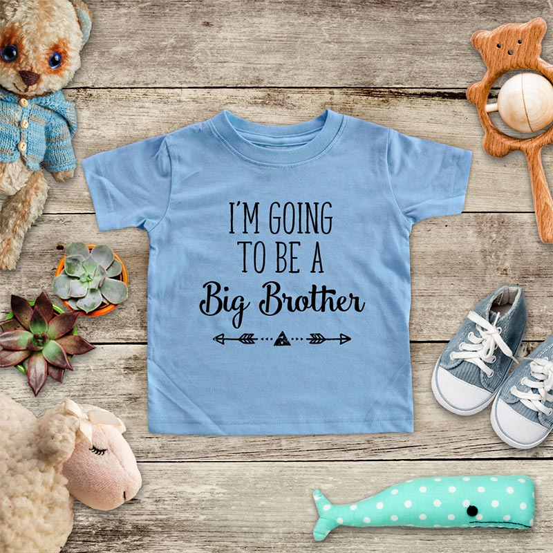 I'm Going to be a Big Brother  - hipster arrow boho design baby onesie Infant & Toddler Soft Shirt baby birth pregnancy announcement