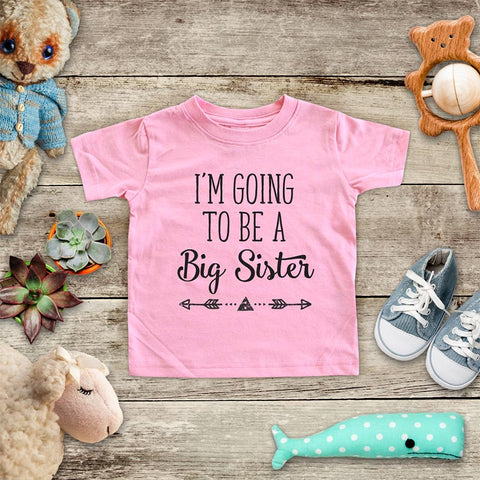 I'm Going to be a Big Sister  - hipster arrow boho design baby onesie Infant & Toddler Soft Shirt baby birth pregnancy announcement
