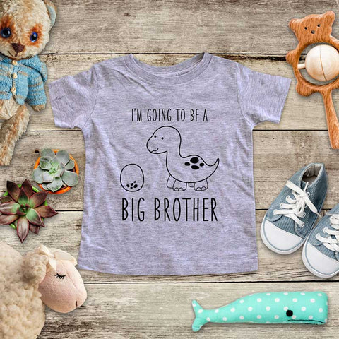 I'm Going to be a Big Brother Dinosaur and Egg - cute design baby onesie Infant & Toddler Soft Shirt baby birth pregnancy reveal announcement