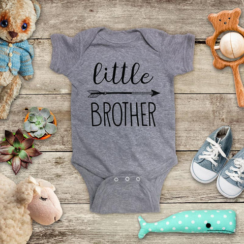 little Brother hipster arrow boho baby onesie Infant & Toddler Soft Shirt - design by Hello Handmade baby birth pregnancy announcement matches Big Brother Shirt