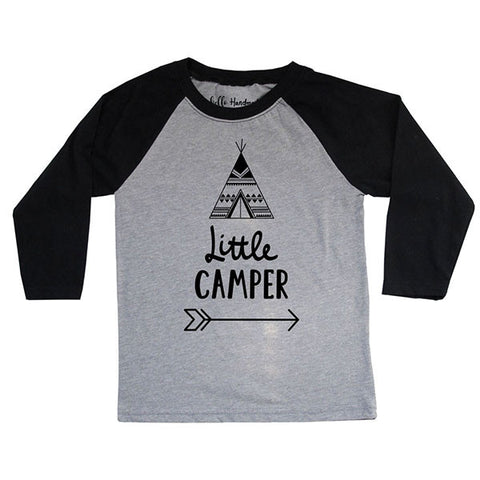 Little Camper - Youth Unisex Three-Quarter Sleeve Raglan T-Shirt