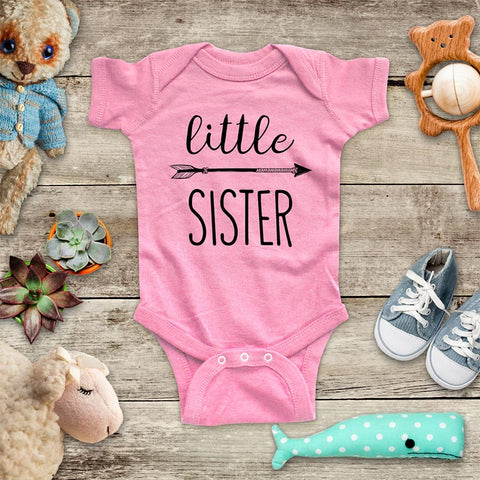 little Sister hipster arrow boho baby onesie Infant & Toddler Soft Shirt baby birth pregnancy announcement matches Big Sister Shirt
