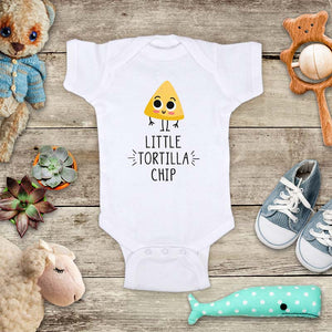 Little Tortilla Chip - Funny Mexican food Baby Onesie Bodysuit Infant & Toddler Soft Fine Jersey Shirt - Baby Shower Gift