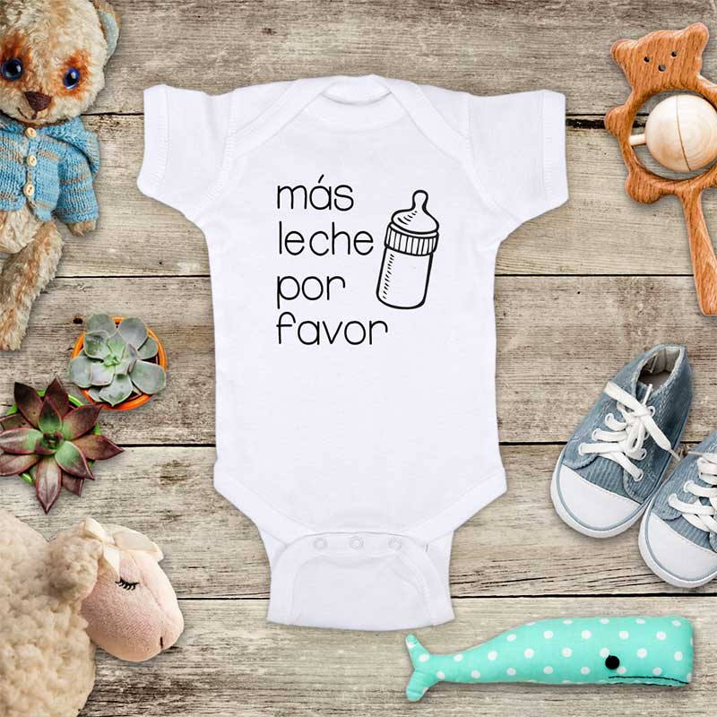 Mas Leche Por favor - funny onesie spanish more milk please - cute kids baby onesie shirt - Infant & Toddler Youth Soft Fine Jersey Shirt