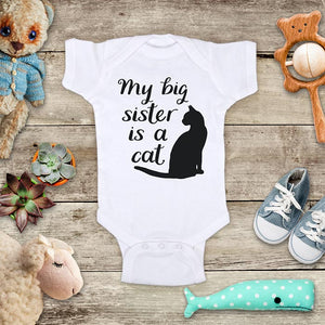 My big sister is a cat pet lover baby onesie shirt - surprise pregnancy announcement Infant & Toddler Youth Soft Fine Jersey Shirt