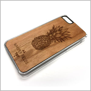 Pineapple Engraved Cherry Wood
