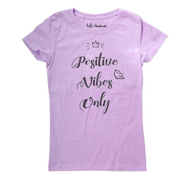 Positive Vibes Only - Kids Youth Girls Tee Shirt