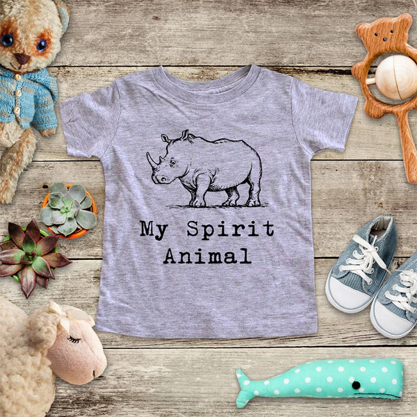 Rhino My Spirit Animal Rhinoceros animal zoo trip baby onesie kids shirt Infant & Toddler Shirt